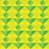 黄色和绿色方形的无缝的样式背景 库存图片