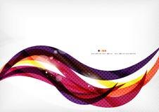 黄色和紫色种族分界线,抽象背景 图库摄影