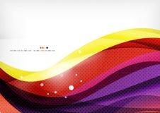 黄色和紫色种族分界线,抽象背景 库存照片