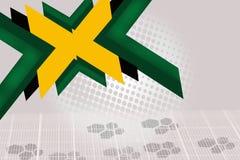 绿色和黄色箭头交叠,抽象背景 免版税库存图片