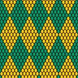 绿色和黄色金刚石塑造样式 向量例证