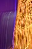 黄色和紫色轻的绘画 免版税图库摄影
