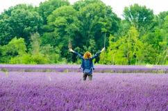 绿色和紫色 图库摄影