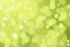 绿色和黄色DEFOCUSED BOKEH摘要背景 免版税库存照片
