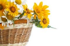 黄色和戴西花束  免版税库存图片