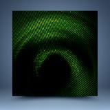 绿色和黑马赛克模板 免版税库存照片