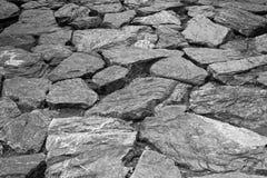 黑色和whirt石头 免版税库存图片