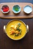 黄色咖喱螃蟹 图库摄影