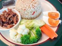 绿色咖喱饭 免版税库存照片