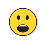 黄色哀伤的面孔震惊消极人情感象 免版税图库摄影