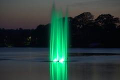 绿色喷泉 免版税库存图片