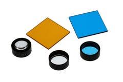 滤色器和透镜 免版税库存照片