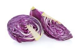 紫色圆白菜切片 库存照片