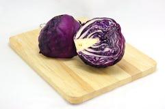 紫色圆白菜 库存照片