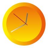 黄色圆的时钟 免版税库存照片
