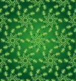 绿色圆花卉无缝的样式 免版税图库摄影