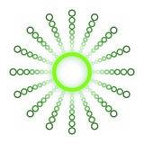 绿色圈子和球形商标设计 免版税库存照片
