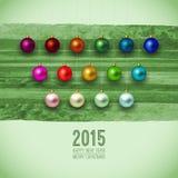 2015年 绿色圣诞快乐背景 圣诞节 免版税库存图片