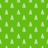 绿色圣诞树样式 向量例证
