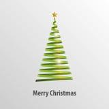 绿色圣诞树Origami传染媒介 免版税图库摄影