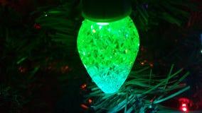 绿色圣诞灯 库存图片
