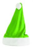 绿色圣诞老人帽子 免版税图库摄影