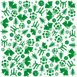 绿色圣诞节包裹 免版税库存照片