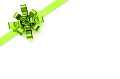 绿色圣诞节弓 免版税库存照片