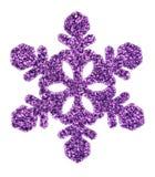 紫色圣诞节星 库存照片