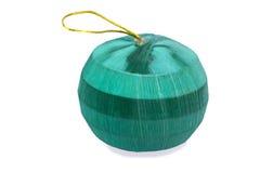 绿色圣诞节玩具 库存照片