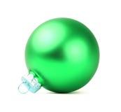绿色圣诞节球 免版税库存照片