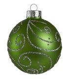 绿色圣诞节球 图库摄影