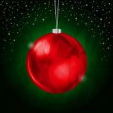 绿色圣诞节背景 免版税库存照片