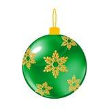 绿色圣诞节装饰球 库存照片