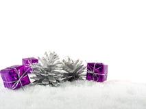 紫色圣诞节 库存照片