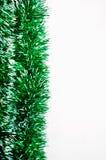 绿色在白色背景隔绝的闪亮金属片明亮的诗歌选 免版税图库摄影