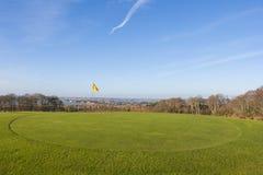 绿色在高尔夫球场 免版税图库摄影