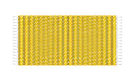 黄色地毯例证,隔绝在白色背景 地毯顶视图 库存图片