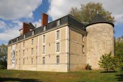 黑色城堡棋子反映白色 浏览 法国 免版税库存图片