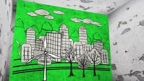 绿色城市概念 皇族释放例证