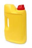 黄色塑料加仑 库存照片