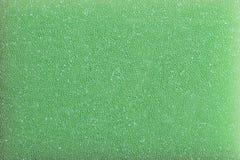 绿色塑料海绵泡沫 免版税图库摄影