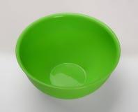 绿色塑料深盘 免版税库存照片