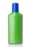绿色塑料瓶正面图  免版税库存照片