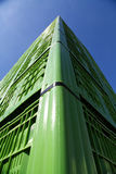 绿色塑料筐02 免版税库存照片