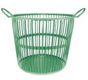 绿色塑料篮子 免版税库存照片
