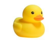 黄色塑料鸭子玩具 免版税库存照片
