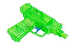 绿色塑料水枪 库存图片