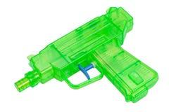 绿色塑料水枪 免版税图库摄影