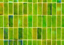 绿色墙壁背景 库存图片